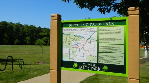 Bike Palos Park Sign